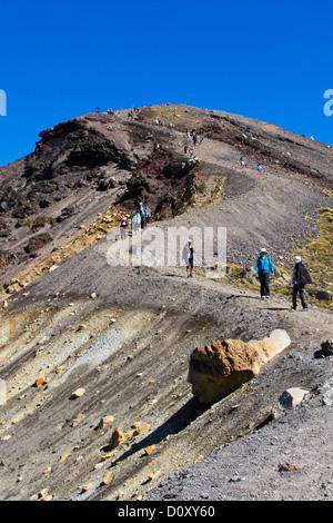 Tongariro Alpine Crossing, New Zealand - Stock Photo