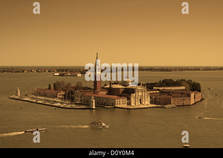 Aerial view of Venice city - Stock Photo