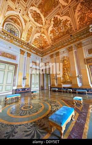 Interior room of Royal Palace of Caserta, Italy. - Stock Photo