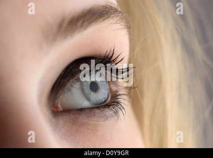Berlin, Germany, the eyes of a young girl '