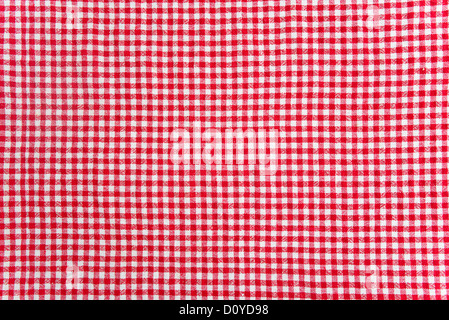 red and white table cloth texture. abstract background - Stock Photo