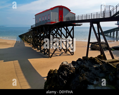The old RNLI Lifeboat Station at Tenby in Pembrokeshire South Wales UK built in 1905 and now converted into a private - Stock Photo