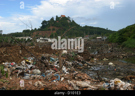 A garbage dumping ground in Phuket. - Stock Photo