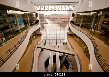 Central foyer of Det Kongelige Bibliotek, Denmark's Royal National Library, built by Schmidt, Hammer & Lassen in - Stock Photo