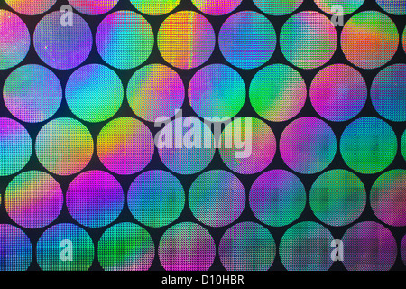 Circular holographic patterns of on background - Stock Photo
