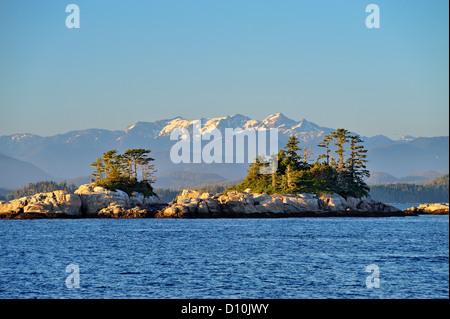Inside Passage islands,  Blackfish Sound, British Columbia BC, Canada - Stock Photo