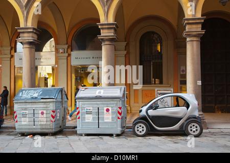 Renault Twizy electric car Bologna city Emilia-Romagna region northern Italy Europe - Stock Photo