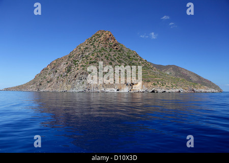 Filicudi island, Aeolian Islands, Sicily, Italy - Stock Photo