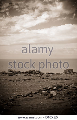 spanish western sahara occupied by morocco north - Stock Photo