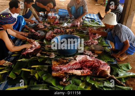 Wedding, lisu, People, Village, Sri Dong Yen, Mae Teang, Chiang Mai, Thailand, Asia - Stock Photo