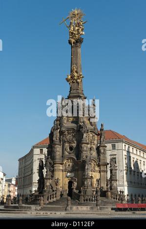 Elk188-3685v Czech Republic, Olomouc, Horni namesti, main square, Holy Trinity Column, 1716-1754 - Stock Photo