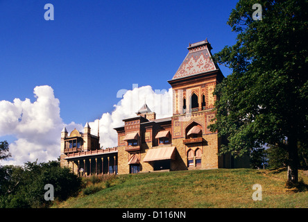 olana was home of hudson river school master frederick church hudson stock photo royalty free. Black Bedroom Furniture Sets. Home Design Ideas