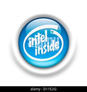 Intel inside logo symbol logotype flag - Stock Photo