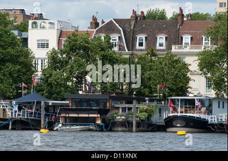 House Boats, Chelsea, London. - Stock Photo