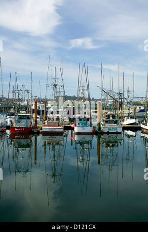 OR00261-00...OREGON - Harbor and bridge in the town of Newport. - Stock Photo