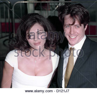 hugh grant liz hurley elizabeth elizebeth portrai - Stock Photo