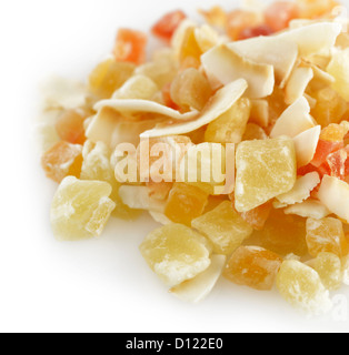 Mix Of Dried Tropical Fruits,Close Up - Stock Photo