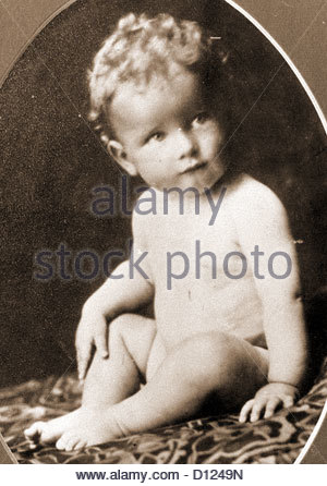 baby child roger moore sir portrait person alone - Stock Photo