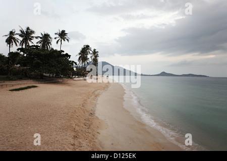 Sunrise on Lamai beach, Koh Samui Island, Thailand - Stock Photo