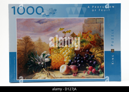 1000 Piece Jigsaw Puzzle Of Fruit - Stock Photo