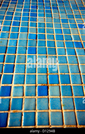blue mosaic tiles stock photo