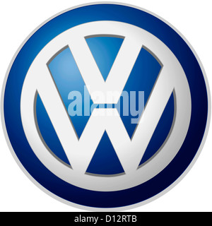 Company logo of the German automotive corporation Volkswagen AG based in Wolfsburg. - Stock Photo