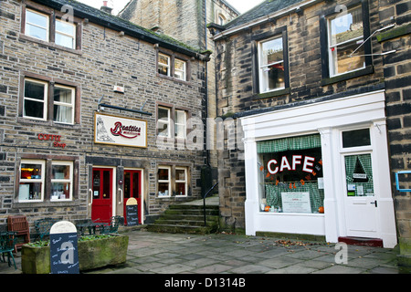 Sid's Cafe as featured in the TV series Last of the Summer Wine, Holmfirth, West Yorkshire - Stock Photo