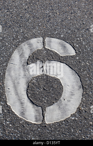 Germany,  Duisburg, numbering on parking area, close up - Stock Photo