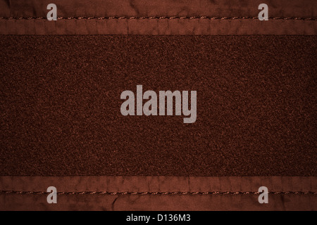 brown wool background with canvas margins or rough fabric texture - Stock Photo