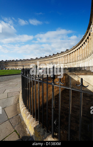 Royal Crescent, Bath. Somerset. England. UK. - Stock Photo