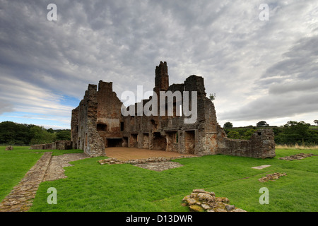 The ruins of Egglestone Abbey, near Barnard Castle Town, Teesdale, Durham County, England, Britain, UK - Stock Photo