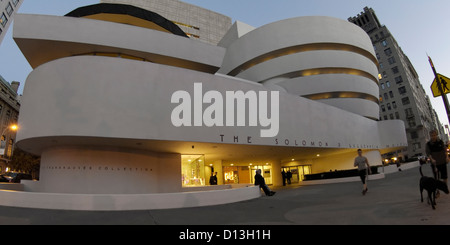 Solomon R Guggenheim Musuem, NYC - Stock Photo