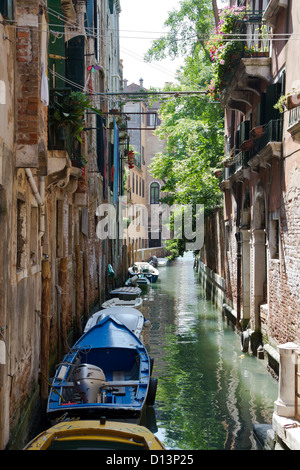 View over a Typical Canal in Venice, Italy