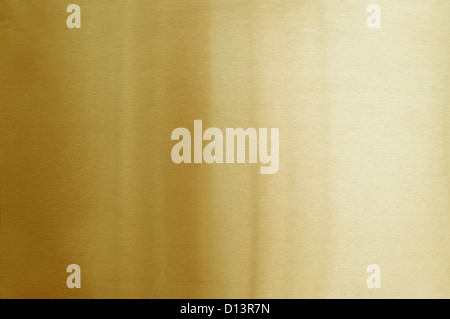 brushed golden metal background - Stock Photo