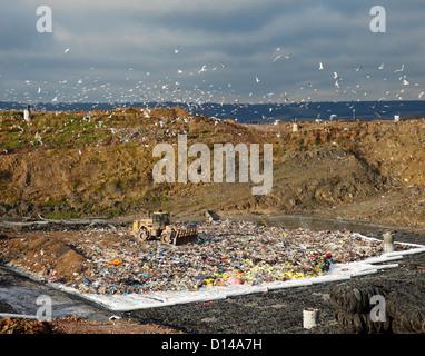 Landfill site at Greatness, Sevenoaks. - Stock Photo