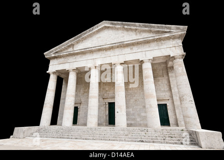 Ancient Greek temple isolated - Stock Photo