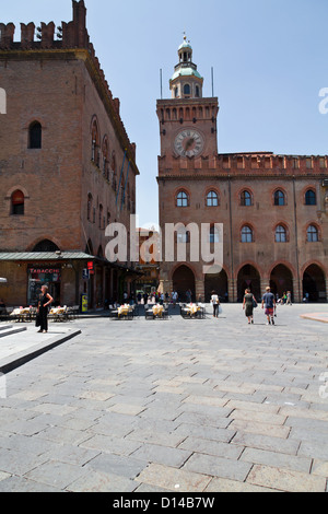 The Palazzo Communale in Bologna, Italy - Stock Photo