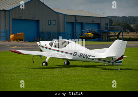 Shaw Europa Single engine kit build British aircraft, at Wolverhampton, Hlafpenny Green Airfield.  SCO 8858 - Stock Photo