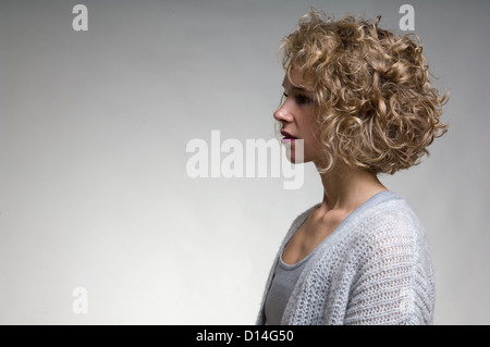 Profile of womans face - Stock Photo