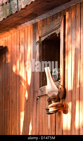 Vintage Kerosene Gas Lamp - Stock Photo