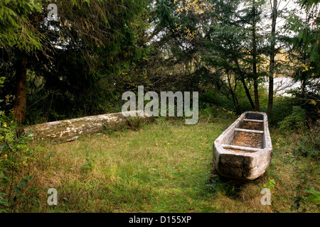 OR00422-00....OREGON - A replica of a canoe built by the Corps of Discovery at Fort Clatsop along the Oregon Coast. - Stock Photo