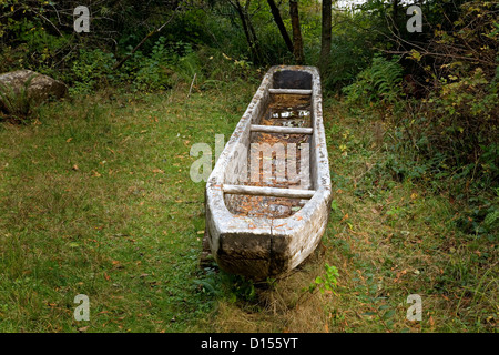 OR00423-00....OREGON - A replica of a canoe built by the Corps of Discovery at Fort Clatsop along the Oregon Coast. - Stock Photo