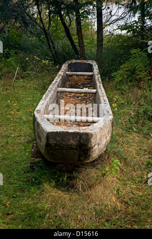 OR00424-00....OREGON - A replica of a canoe built by the Corps of Discovery at Fort Clatsop along the Oregon Coast. - Stock Photo