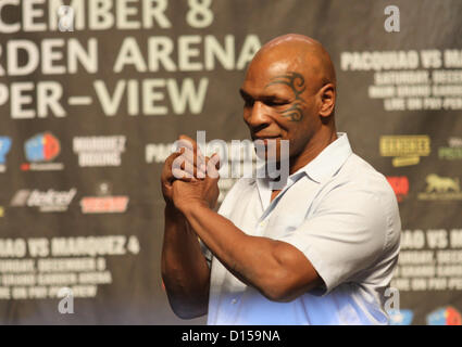 Dec. 7, 2012 - Las Vegas, Nevada, USA - Former World Heavyweight Champion Mike Tyson takes the stage in front an - Stock Photo
