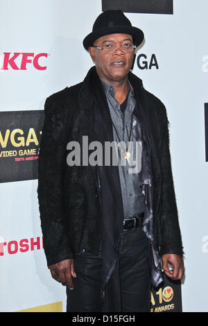 Dec. 7, 2012 - Los Angeles, California, U.S. - Samuel L. Jackson   attends  Spike's 10th Annual Video Game Awards - Stock Photo