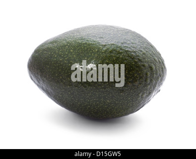 Fresh avokado isolated on the white background - Stock Photo
