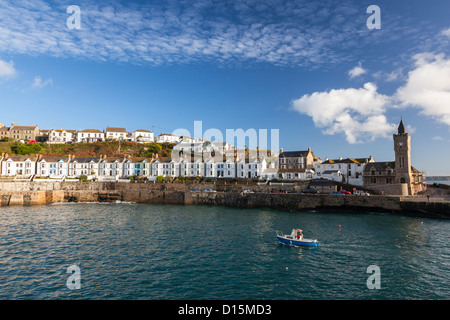 The harbour entrance at Porthleven Cornwall England UK - Stock Photo