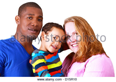 Happy multicultural family - Stock Photo