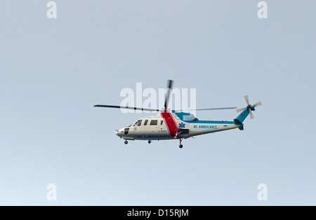 Helijet International Sikorsky S-76C Air Ambulance, Vancouver Island British Columbia.  SCO 8875 - Stock Photo