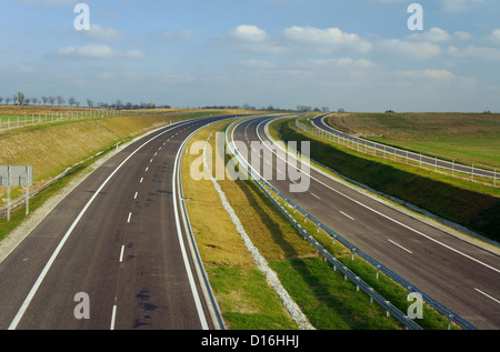 orbital road under construction in Poznan, Poland - Stock Photo